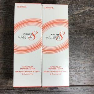 Arbonne Figure 8 Vanish TWO boxes sealed Serum 6oz